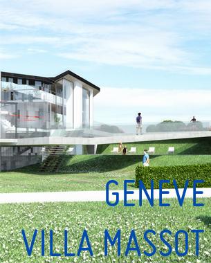 Die Villa befindet sich eine Fahrtstunde von Genf entfernt, am Bergfuß der schneebedeckten Alpen. Das bestehende Haus wurde in den Siebzigern errichtet.