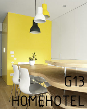 HomeHotel G13 is a studio apartment meant to accommodate a family of five